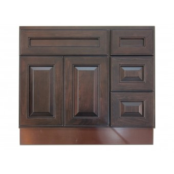 """36"""" Vanity Cabinet with Right Drawers Expresso Traditional"""