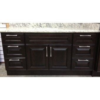"""60"""" Vanity Cabinet with Drawers Expresso Traditional"""
