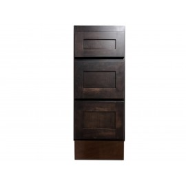 "12"" Vanity Cabinet with Drawers Expresso Birch"