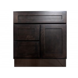 "30"" Vanity Cabinet with Left Drawers Expresso Birch"