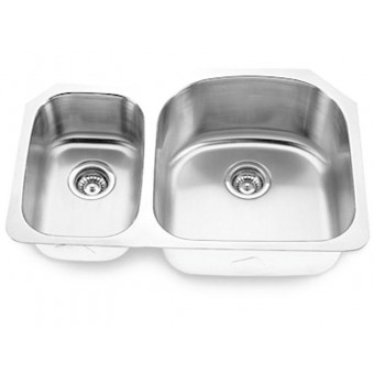 Undermount Stainless Steel Double Bowl Sink Model 3121R