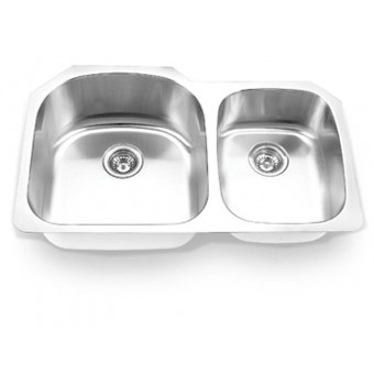 Undermount Stainless Steel Double Bowl Sink Model 3320L