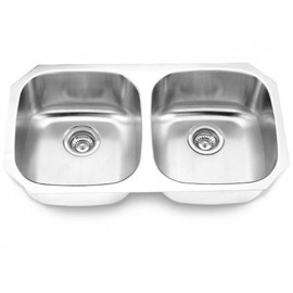 Undermount Stainless Steel Double Bowl Sink Model 502A