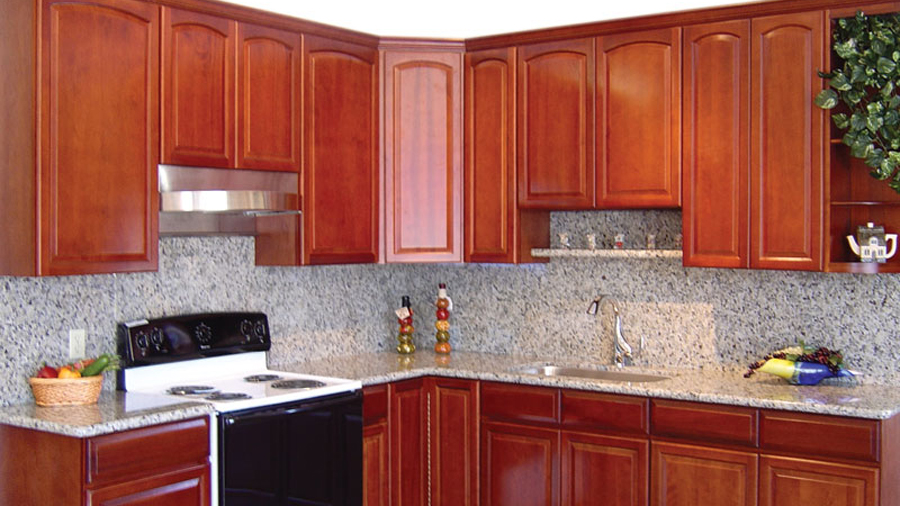 Traditional cherry for Ants in kitchen cabinets