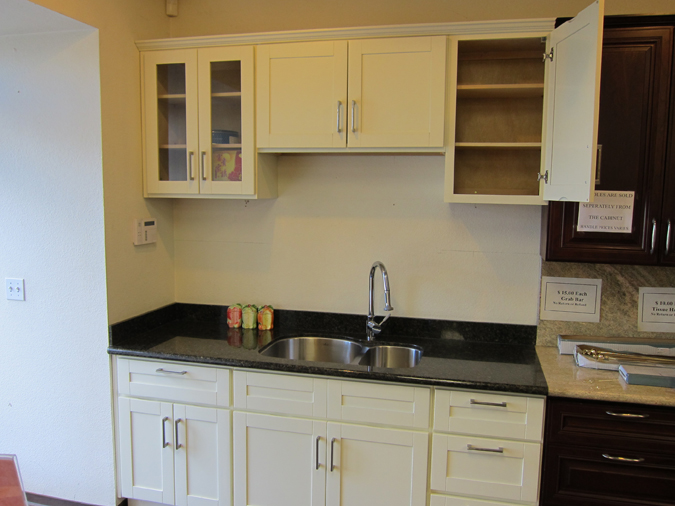 Creme white for Ants in kitchen cabinets